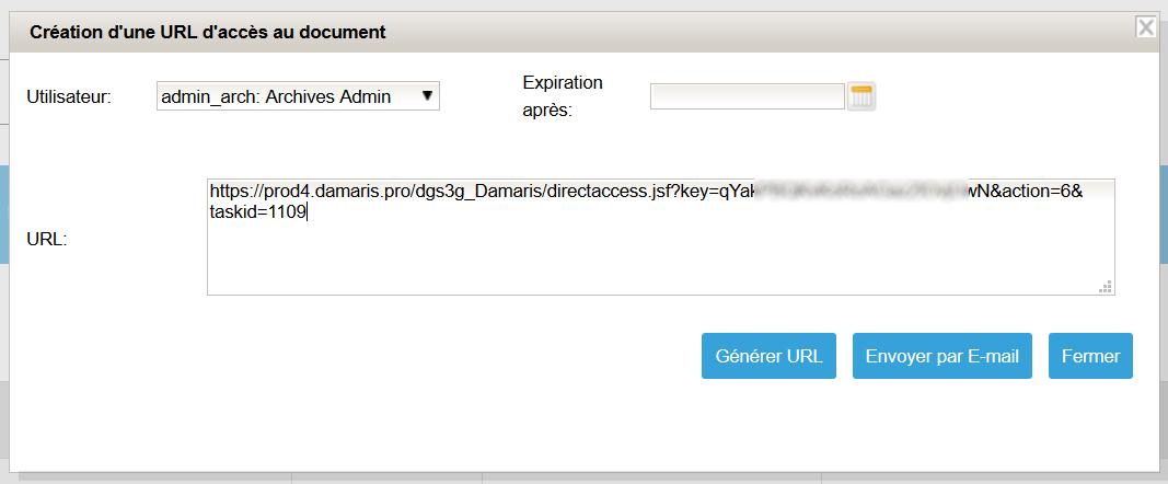 Création URL tâche planifiée