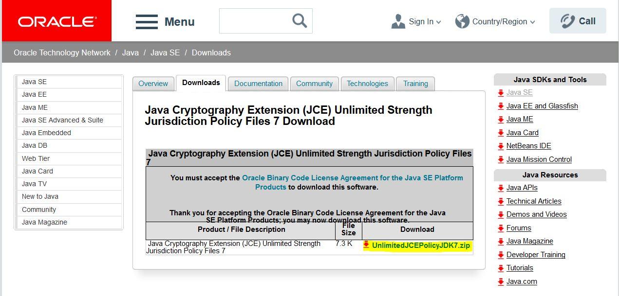 Oracle JCE Download