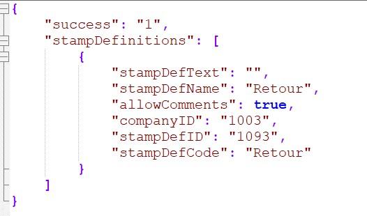 JSON Get Stamp Definitions