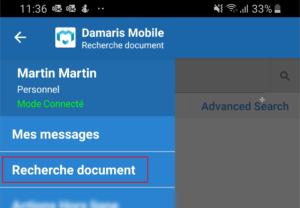 Damaris Mobile Recherche documents