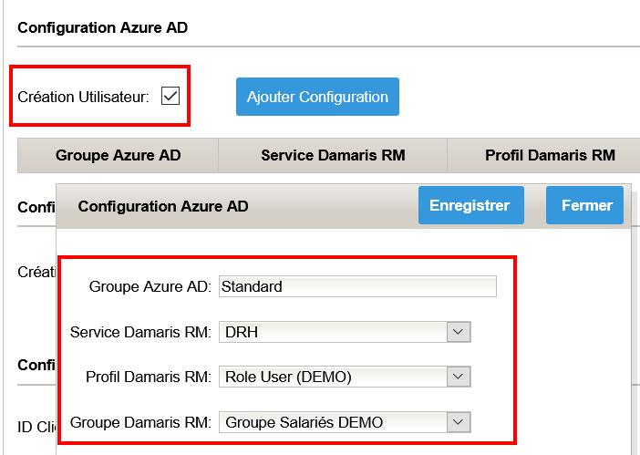 Azure AD Création utilisateurs